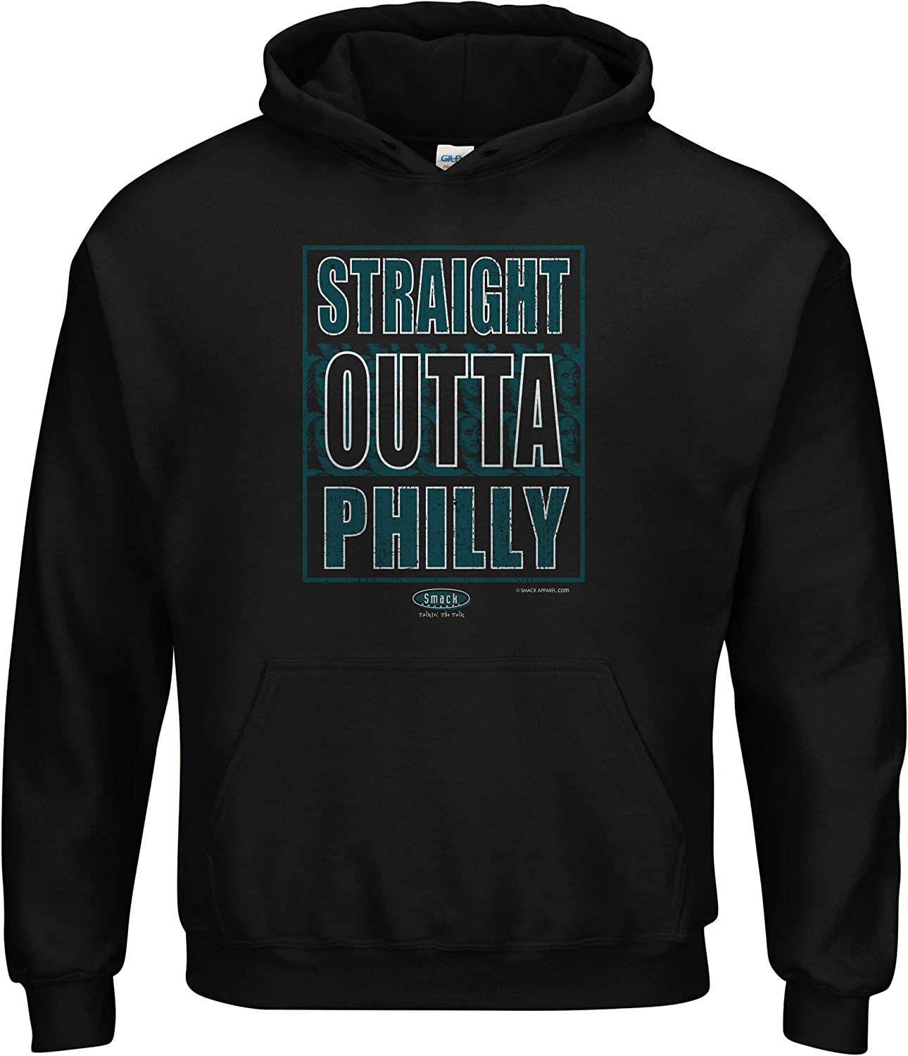 Philadelphia Football Fans Straight Outta Philly Black T-Shirt Sm-5X