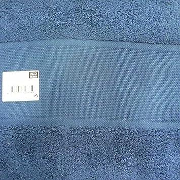 Rico Design - Toalla para bordar con punto de cruz, azul marino, 50 x 100 cm, con banda Aida: Amazon.es: Hogar
