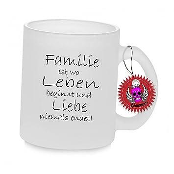 Klebemonster24 Spruchtasse Funtasse Glas Mit Aufdruck Spruch Familie