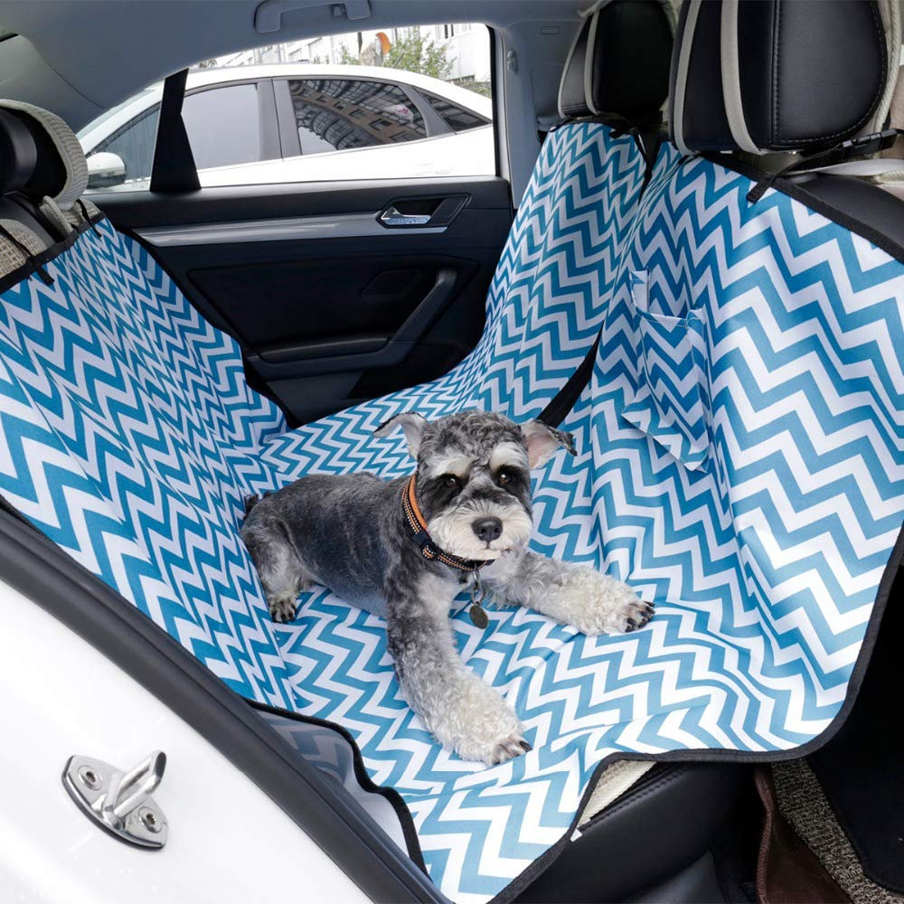 QZQWQNA Pet Car Seat Covers Waterproof Back Bench Seat Pet Dog Car Seat Cover Mats Hammock Predector With Safety Belt transportin