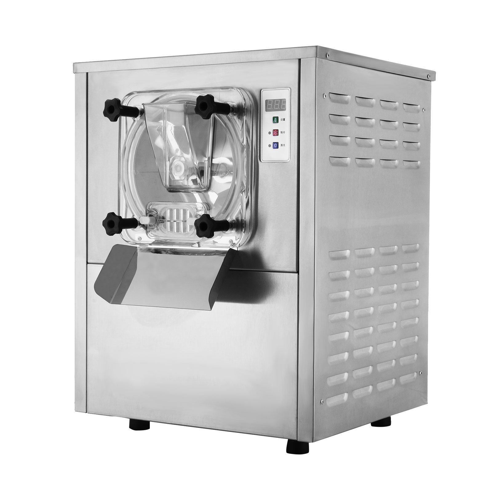 Simplego Commercial Ice Cream Maker 5.2 Gallon/H Hard Ice Cream Machine 1400W Digital Display Stainless Steel Ice Cream Maker Machine