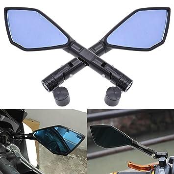 KaTur Motocicleta CNC Aluminio? Negro Lateral de Visión Trasera Espejos 8 mm 10 mm a