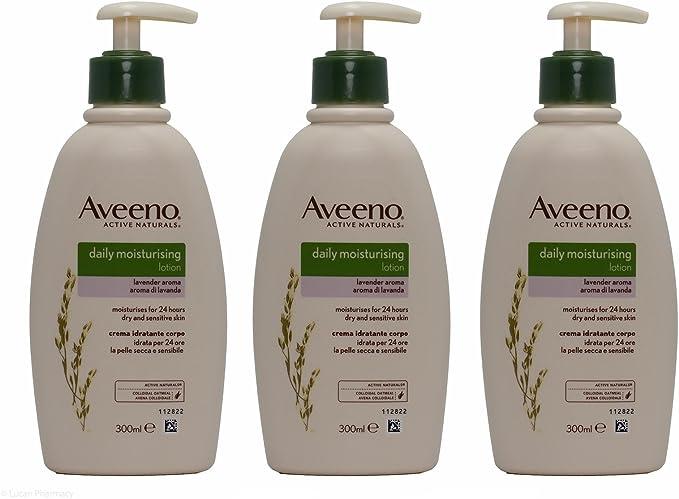 Multibuy 3X Aveeno® Daily Moisturising Lotion with Lavender Aroma – 300ml: Amazon.co.uk: Health & Personal Care