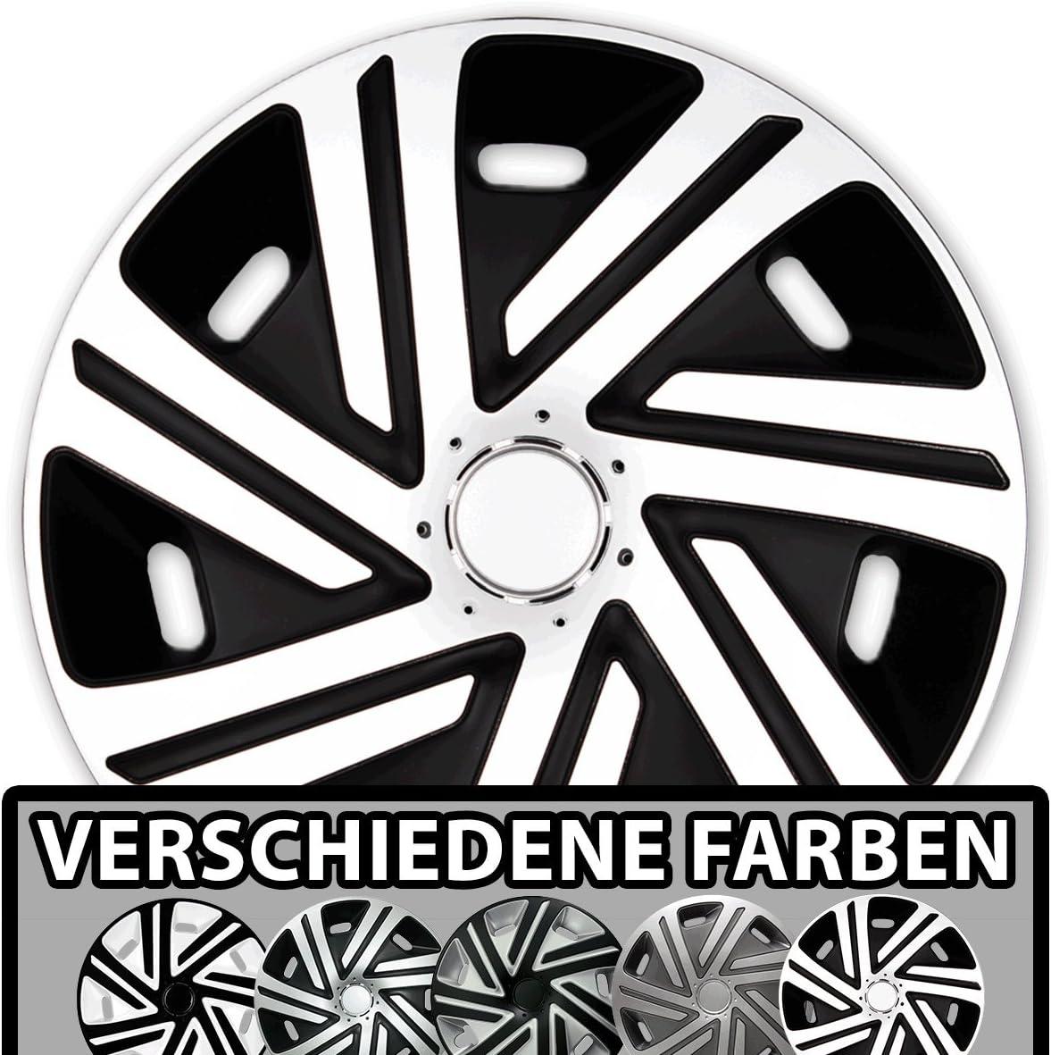 Eight Tec Handelsagentur Größe Und Farbe Wählbar Radzierblenden 16 Zoll Cyrkon Schwarz Weiß Passend Für Fast Alle Fahrzeugtypen Universell Auto