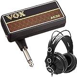 VOX AP2AC amPlug 2 AC30 Guitar Headphone Amplifier with Over-Ear Headphones Bundle (2 Items)