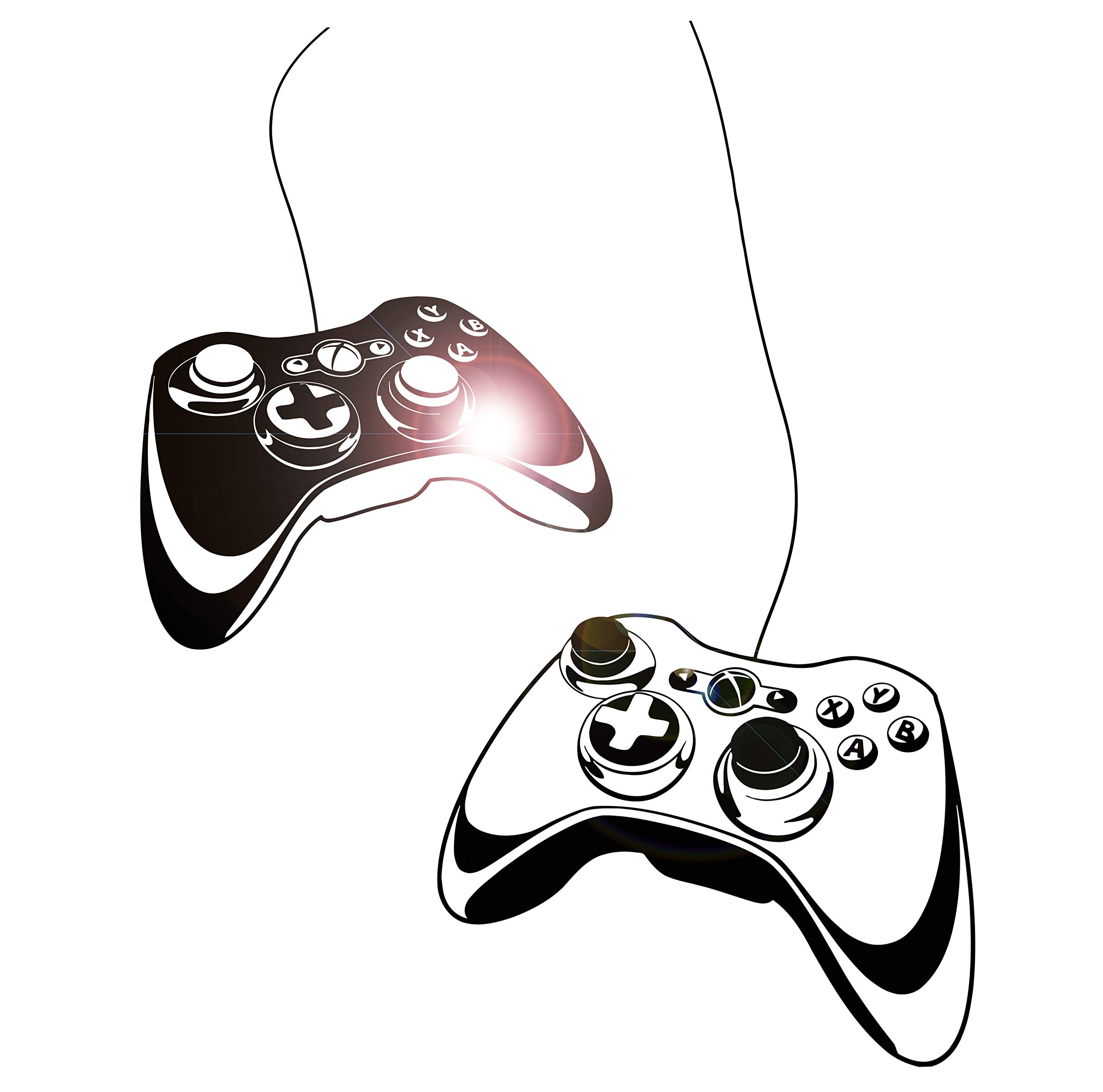 Wall Decal Gamer Gaming Joystick Vinyl Art Kids Room Large Decor z4909 (28 in X 43 in) by Wallstickers4you