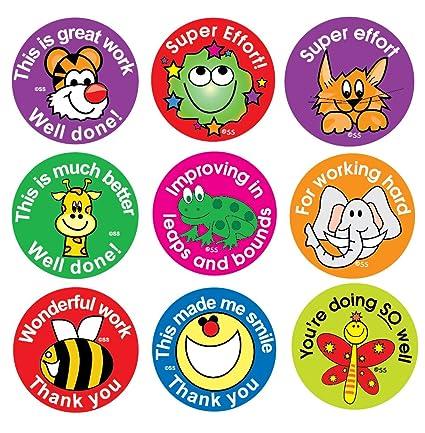 Sticker Solutions Dbs175 Etiquetas Para Niños Frases De Recompensa En Forma Circulares