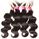 ALI JULIA Hair 7A Body Wave Hair Weave 4 Bundles 100% Unprocessed Human Hair Weft Extensions Natural Color