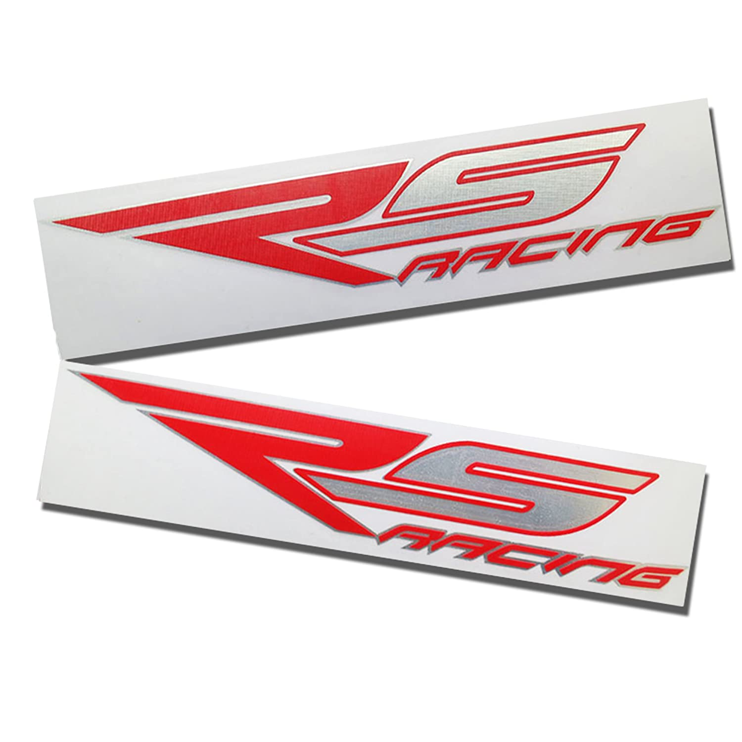 Aprilia rs racing red and silver chrome design graphics decals stickers x 2 amazon co uk car motorbike