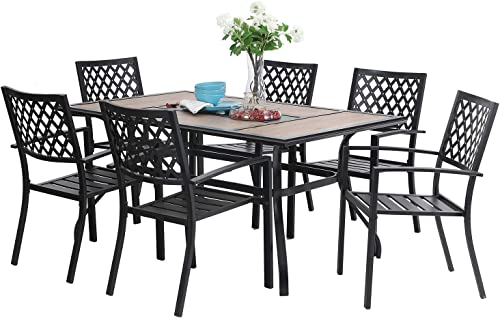 Sophia William Patio Dining Set 7 Pieces Metal Outdoor Furniture Set