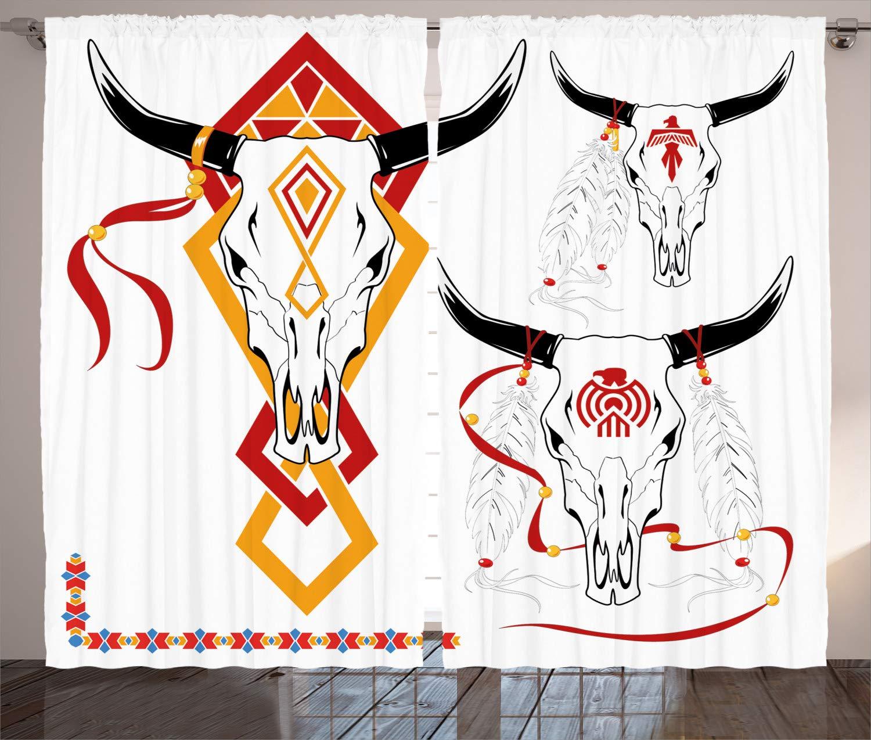 ABAKUHAUS Tatuaje Cortinas, Bulls Head con la Pluma, Sala de Estar ...