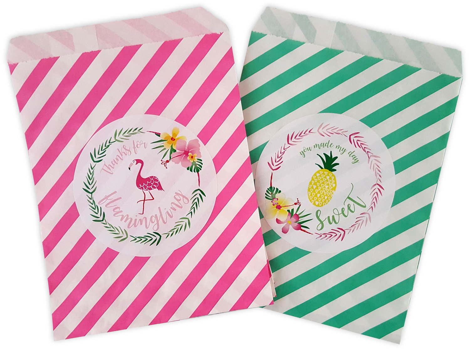 Amazon.com: Tropical Flamingo and Pineapple hot Pink and Teal ...
