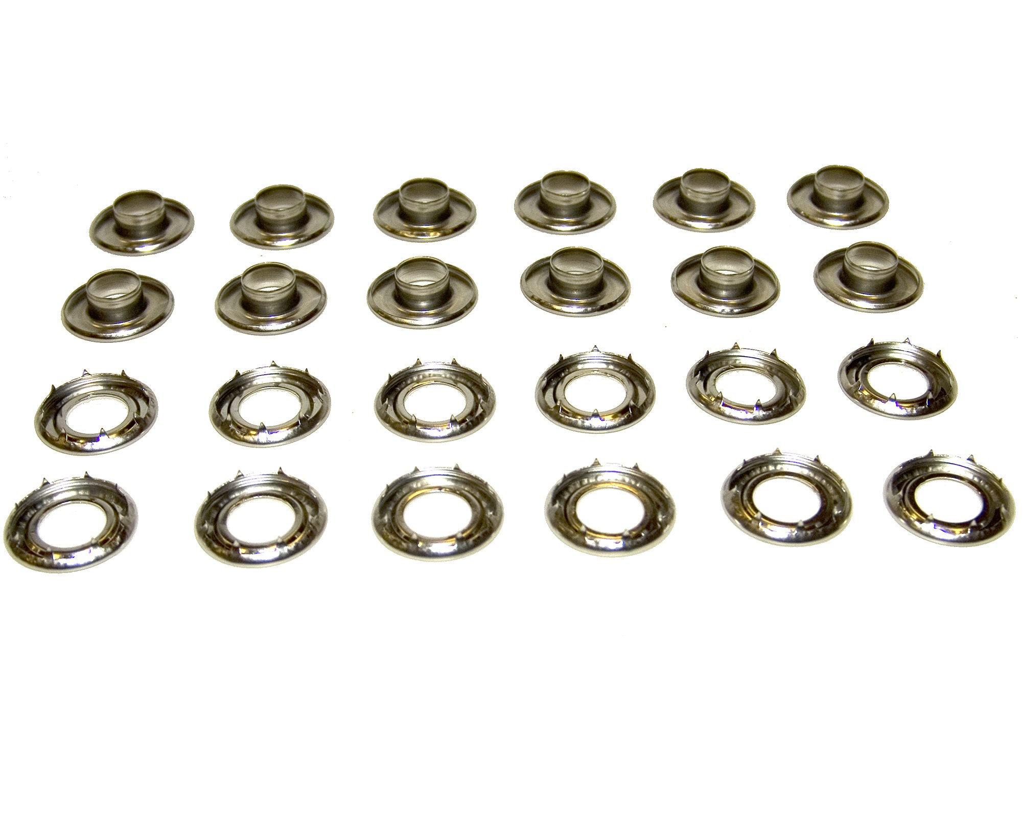 Grommets, 4Rolled Rim Spur, Stainless Steel, Heavy Duty, 12 Piece Set by Northwest Tarp & Canvas
