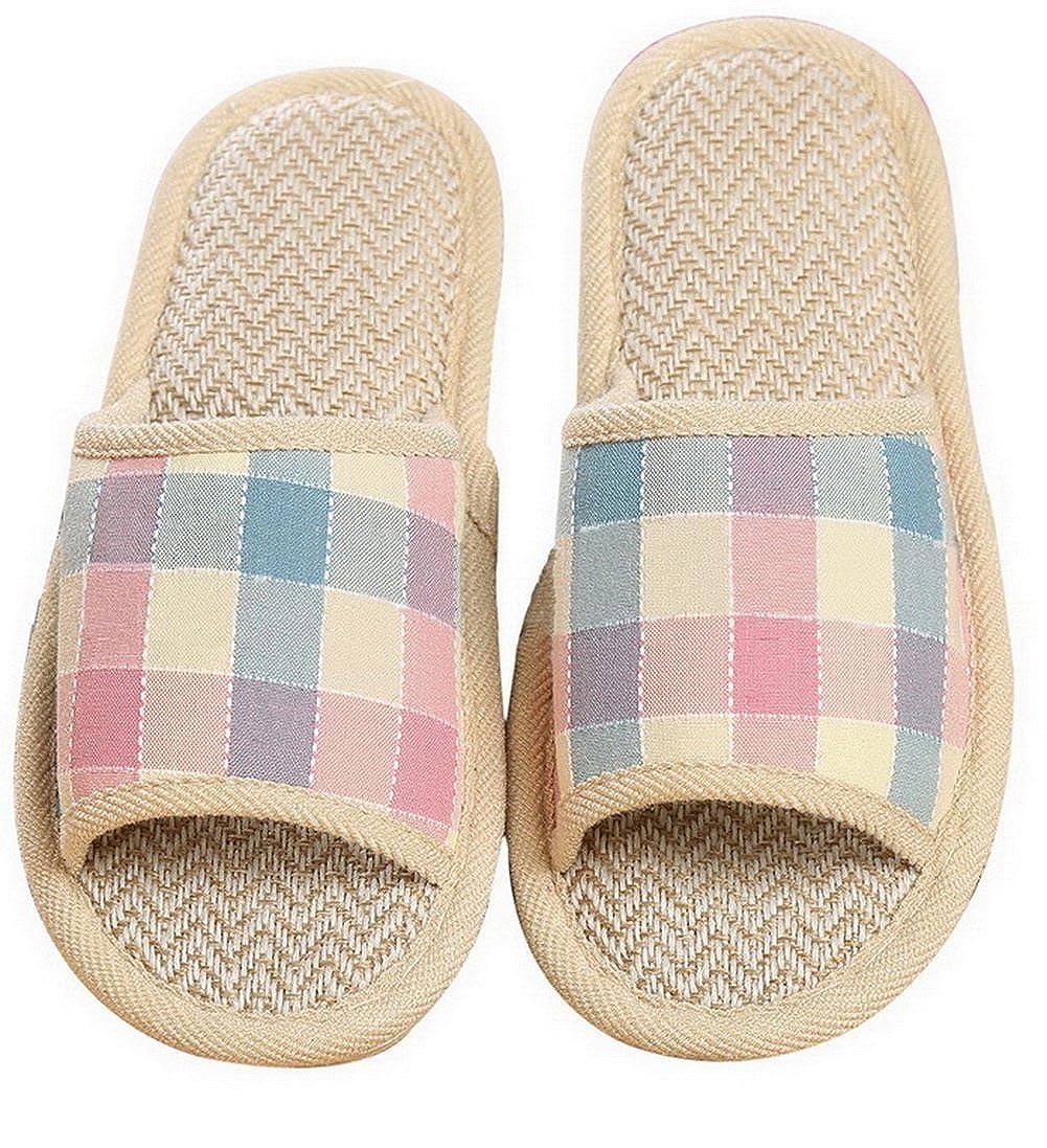 LISIMKE Womens Bath Slippers Fashion Slippers Beach Slippers Hotel Slipper shoes-39 Black