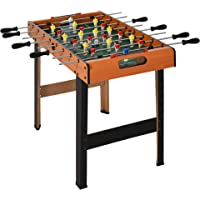 "Soozier|HOMCOM 33.25"" Foosball Table Heavy Duty for Arcades, Pub, Game Room, 8 Rods, 2 Balls"