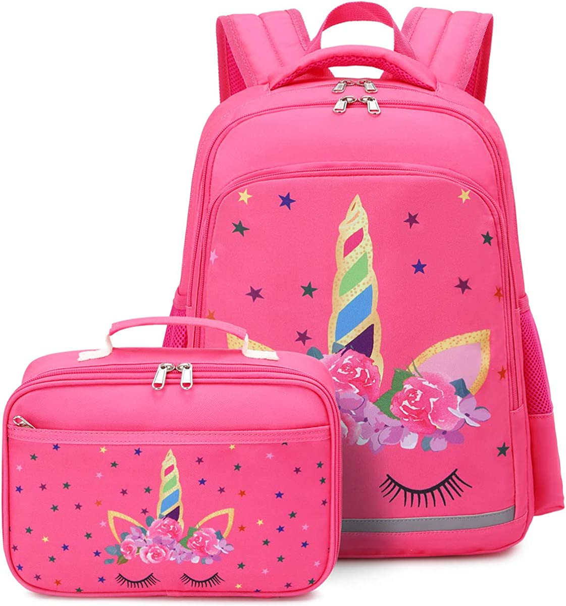 CAMTOP Backpack for Kids Girls School Backpack with Lunch Box Preschool Kindergarten BookBag Set