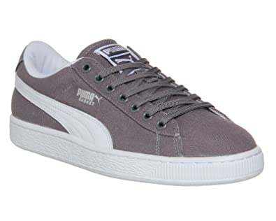 Canvas Classic 12 UkAmazon Puma White Grey co ukShoes Basket qUVSMpGz