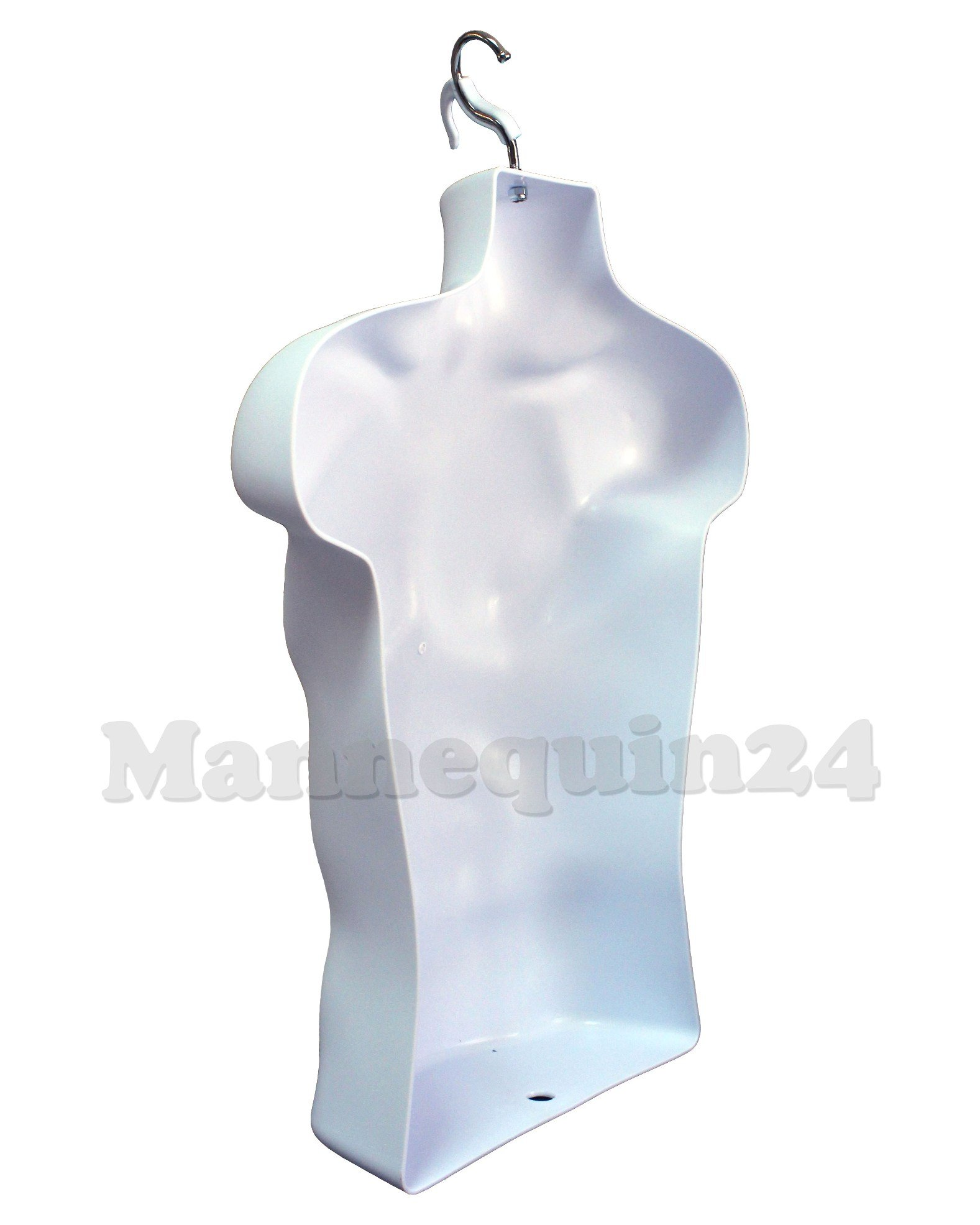 DisplayTown Mannequin Forms Male and Female Torso with Metal Stand and Hook for Hanging Pants, Waist Long, White by DisplayTown (Image #8)