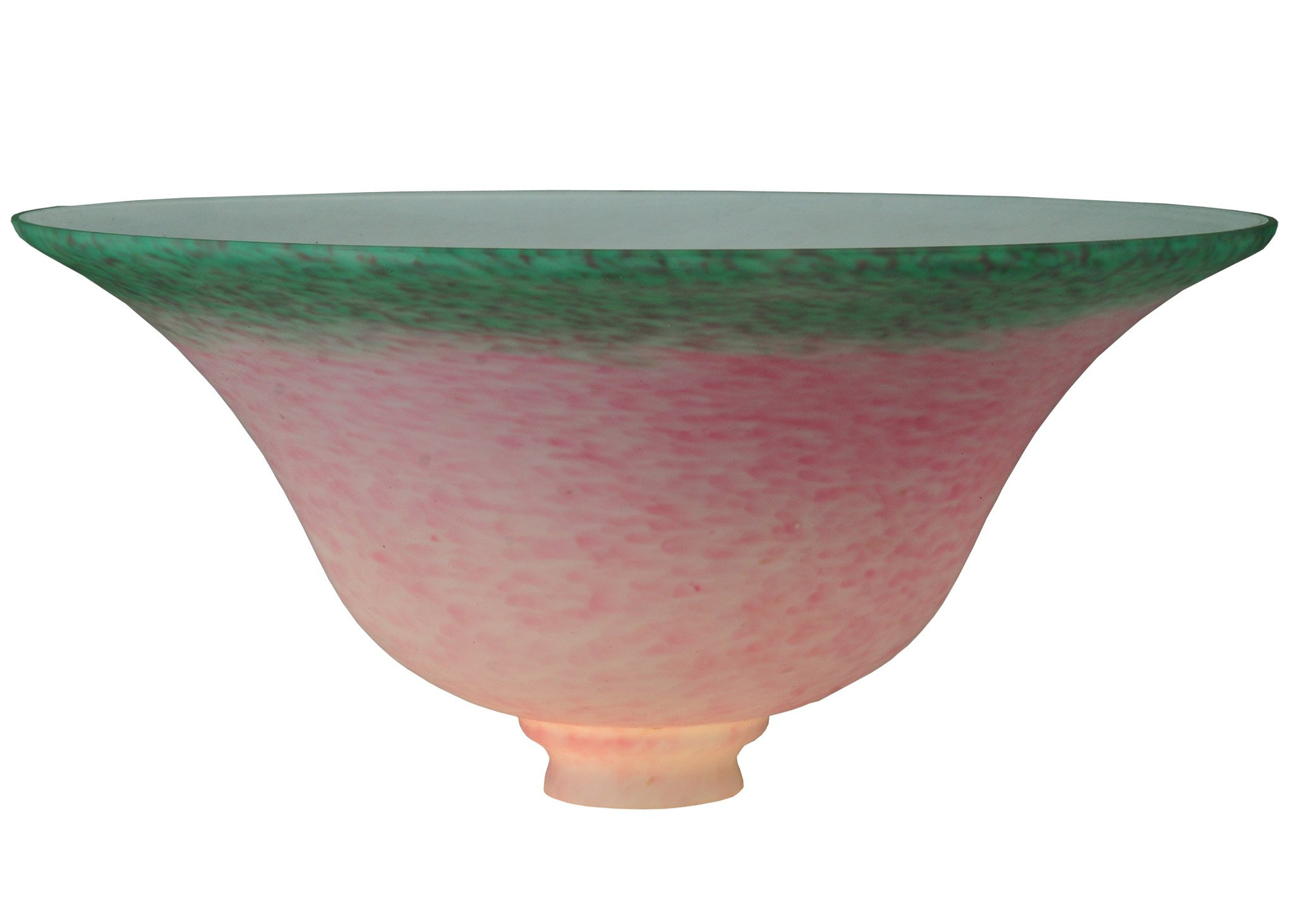 13 Inch Bell Pdv Pk/Gr Product Application Lily Tulip and Pate-de-Verre by Meyda