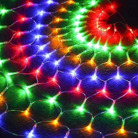 Jardín Red De Luces LED Luz De Hadas Color Cadena De Luz Al Aire ...