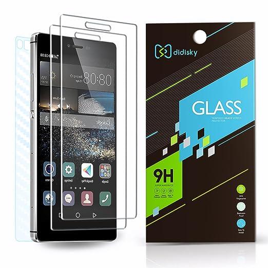 42 opinioni per (2 Front + 1 Back)Vetro Temperato Huawei P8, Didisky® 2 Pack Pellicola