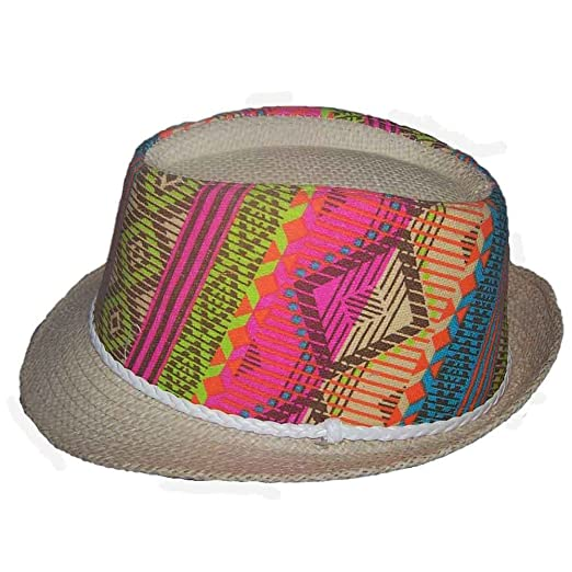2f59438913e Image Unavailable. Image not available for. Color  Fedora Trilby Hats For  Adults Tribal Patterns ...