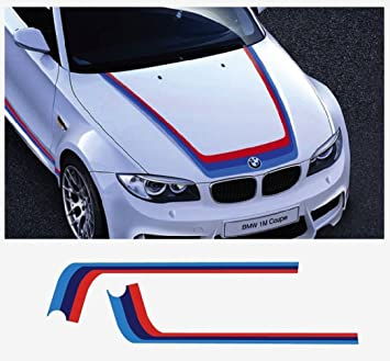 Bmw M Performance M Stripe Decal Bonnet Stripes Reddark