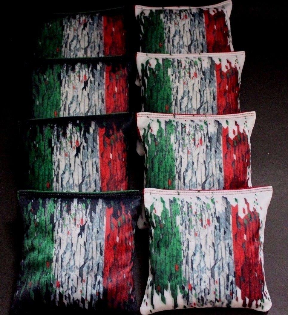ITALIAN FLAG of ITALY red and green 8 ACA Regulation Cornhole Bean Bags B254