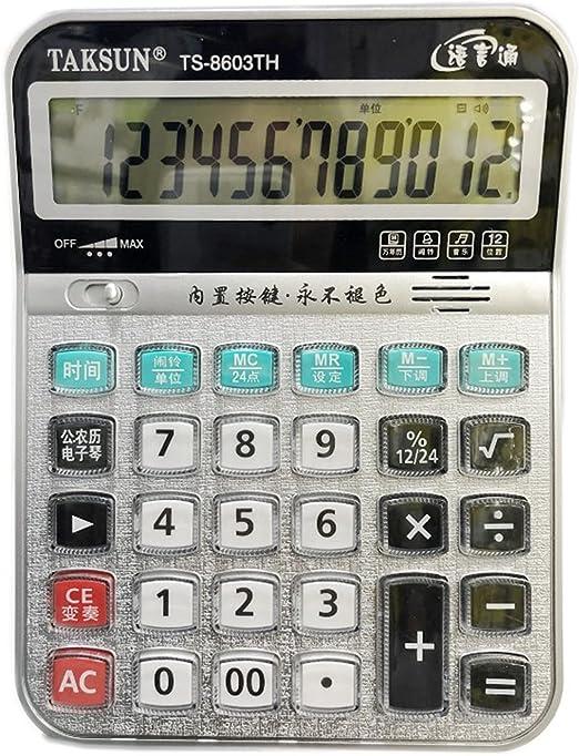 LALB Voice Calculator, Multi-Purpose Flat Calculator That Can Play Piano, Desktop Office Calculator