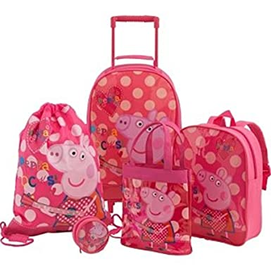 0a5ff229fc0d Amazon.com: Peppa Pig 5 Piece Luggage Set - Multicoloured (223940688 ...
