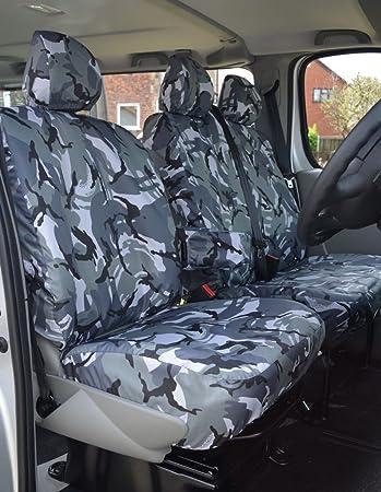 For CITROEN BERLINGO ENTERPRISE Heavy Duty Black Waterproof Car Seat Covers 1+1