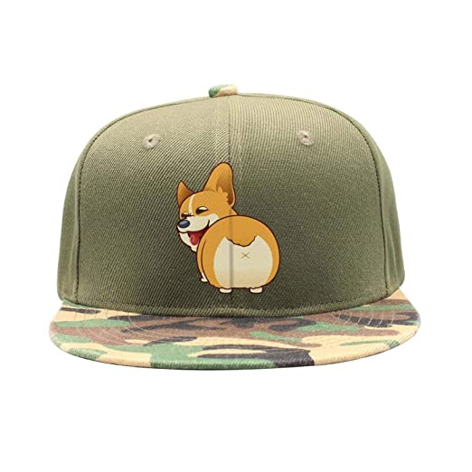 d777643f68241 Hearnsom Barred Corgi Butt Plain Washed Unisex Adjustable Baseball Hats  Trucker Cap
