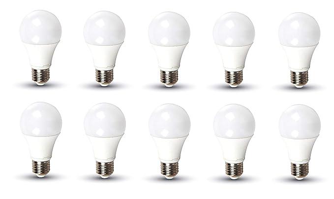 Kit 10 Bombillas LED 11 W Bulb A58 Chip Samsung V-TAC Pro Casquillo E27
