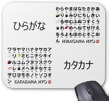 Hiragana Japonesa y Katakana Mesa (Sushi) Alfombrilla de ...