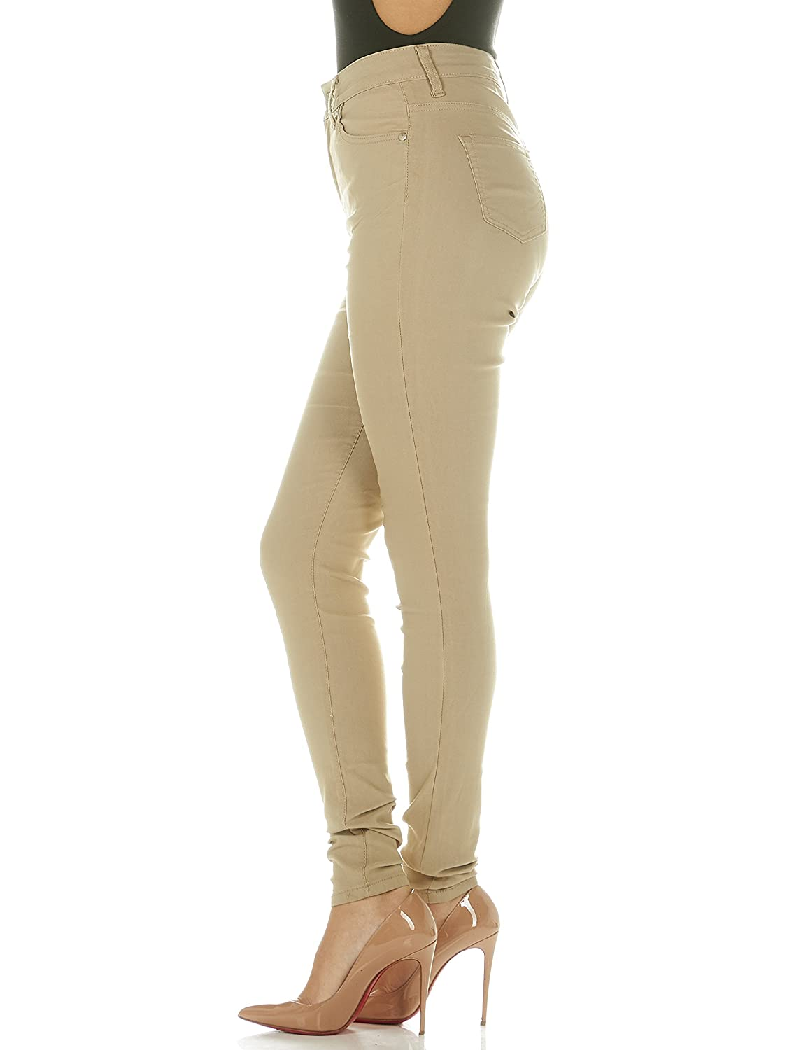 17e9c037aea Khaki High Waisted Ultra Skinny Jeans for Plus or Juniors Slim Fit Extra  Stretch at Amazon Women's Jeans store