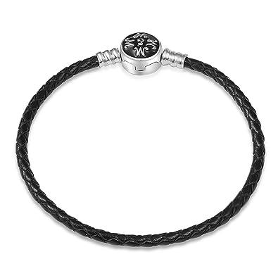 Cuir Adapté Charms Argent Charm Ememcharm Gm01 Bracelet 925 Pandora QrdCoxEBeW