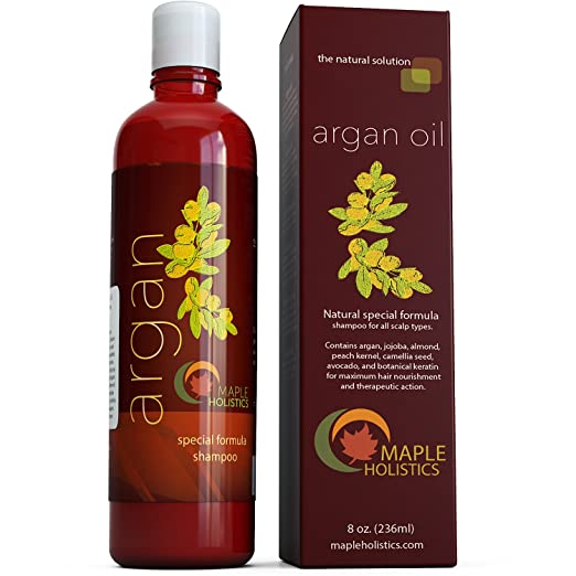 The Best Shampoo for Sensitive Scalp - Maple Holistics Argan Oil Shampoo Reviews
