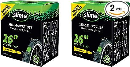 Slime Bicycle Self-Sealing Inner Tube 26x1.75-2.125 Presta Valve 48mm Threaded