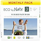 Eco by Naty Baby Diapers, Size 3, 180 Ct, Plant-based with 0% Oil Plastic on Skin, One Month Supply