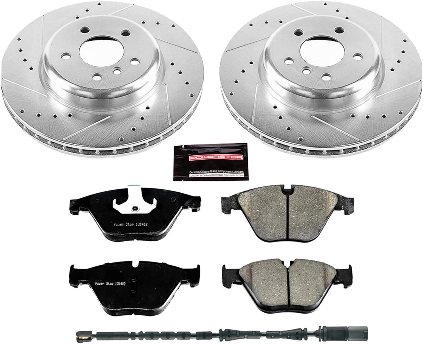 Power Stop K2276 Front Z23 Evolution Brake Kit with Drilled//Slotted Rotors and Ceramic Brake Pads