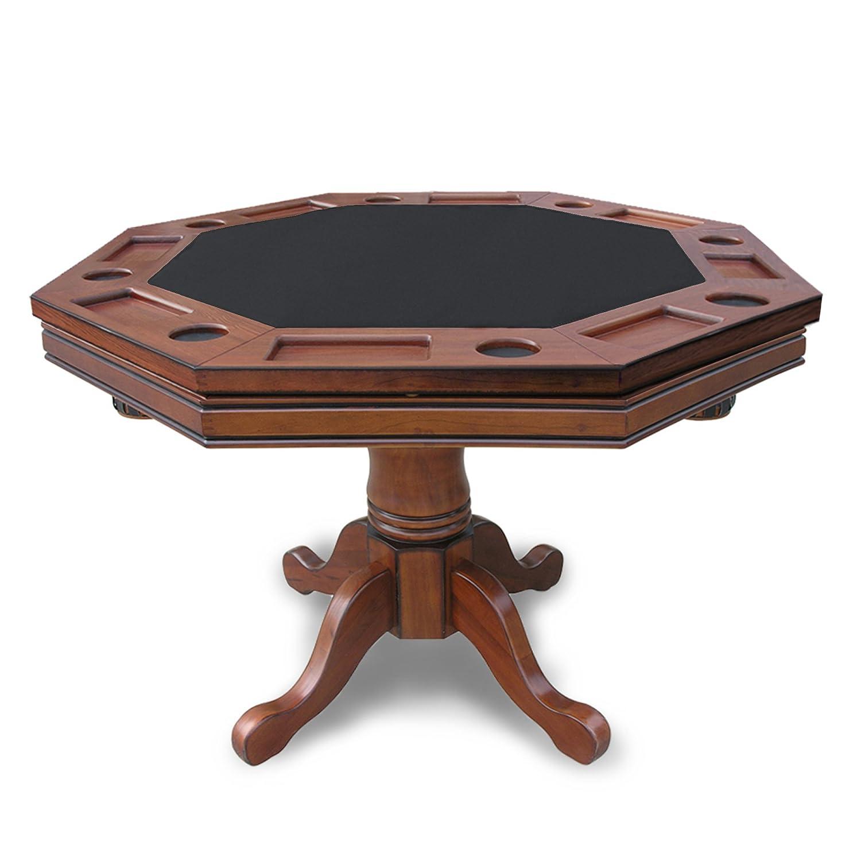 Hathaway 3 in 1 Poker Table Walnut Poker Tables Amazon Canada