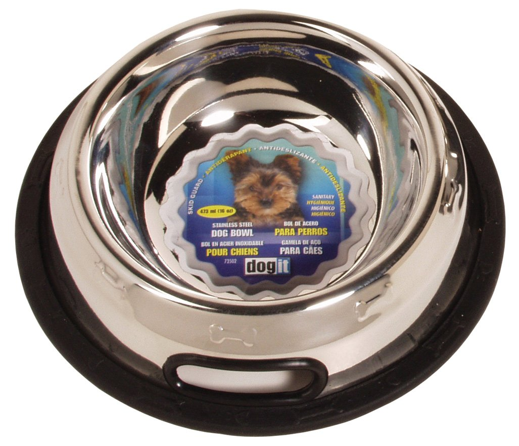 Amazon.com : Dogit Stainless Steel Non-Spill Dog Dish, 16-Ounce : Pet Bowls : Pet Supplies