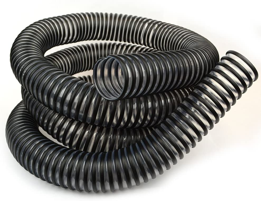 Hi-Tech Duravent 11283 2-Inch by 10-Feet Clear PVC Dust Hose with Black Plastic Helix