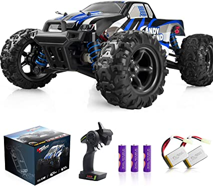 Amazon Com Imden Remote Control Car Terrain Rc Cars Electric Remote Control Off Road Monster Truck 1 18 Scale 2 4ghz Radio 4wd Fast 30 Mph Rc Car With 2 Rechargeable Batteries Blue Toys Games