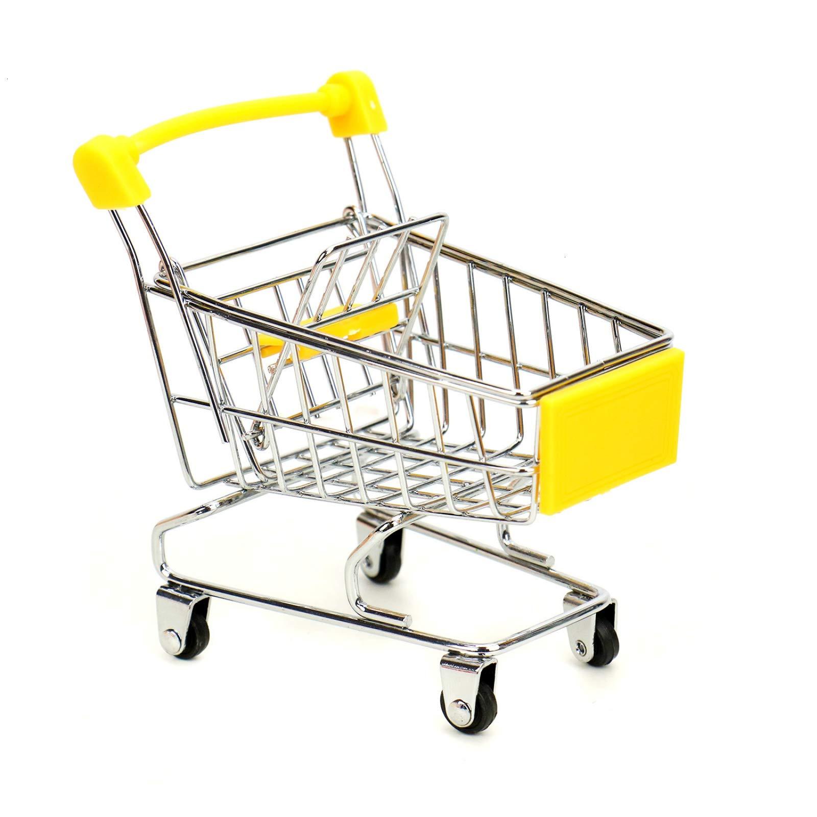 WSSROGY 3 Pack Mini Supermarket Handcart Cart Mode Storage Toy Table Office Novelty Decoration by WSSROGY (Image #4)
