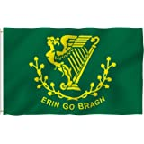 ANLEY® [Fly Breeze] 3x5 Foot Erin Go Bragh Flag - Vivid Color and UV Fade Resistant - Canvas Header and Double Stitched - Ireland Forever Flags Polyester with Brass Grommets 3 X 5 Ft