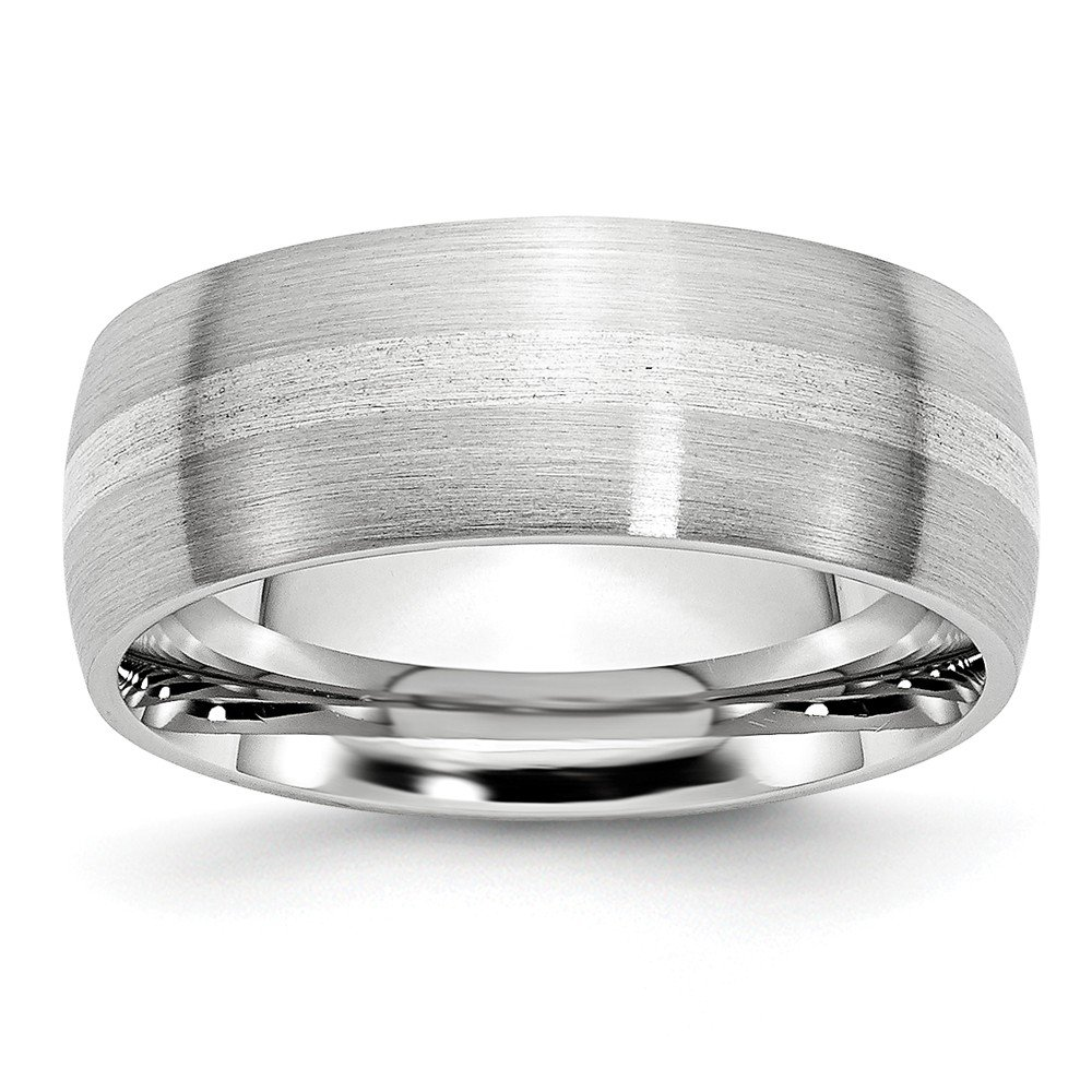 12, Size Jay Seiler Cobalt Sterling Silver Inlay Satin 8mm Band