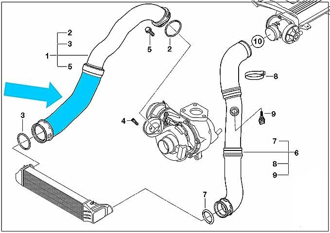Intercooler Turbo Manguera parte BMW 11617786865 o 1162247325: Amazon.es: Coche y moto