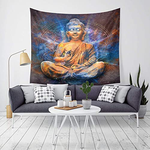 XIANGEN Tapestry Wall Decoration Tapestry Printed Home Tapestry Decorative Bohemian Buddha Pattern Tapestry Wall Hanging