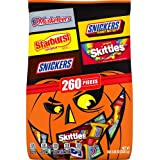 SNICKERS Original, SNICKERS Crunchy Peanut Butter, 3 MUSKETEERS, STARBURST, & SKITTLES Halloween Candy Mix, 82.05 oz…